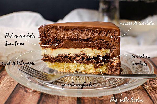 Acest entremet cu ciocolata si kalamansi este nu doar aromat, ci si putin mai dietetic, fiind indulcit cu un inlocuitor de zahar. Nu ignorati insa ciocolata!