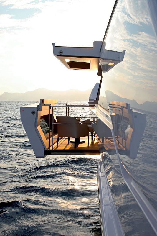 No yacht is complete without a retractable balcony. AHMAD KARIMIAN BOARD  http://www.womenswatchhouse.com/