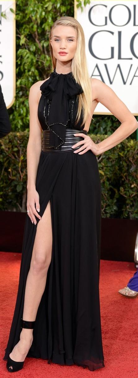 Rosie Huntington Whiteley in Yves Saint Laurent, 2013 Golden Globes