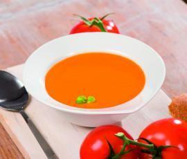Recept Krémová rajčatová polévka od Vorwerk vývoj receptů - Recept z kategorie Polévky