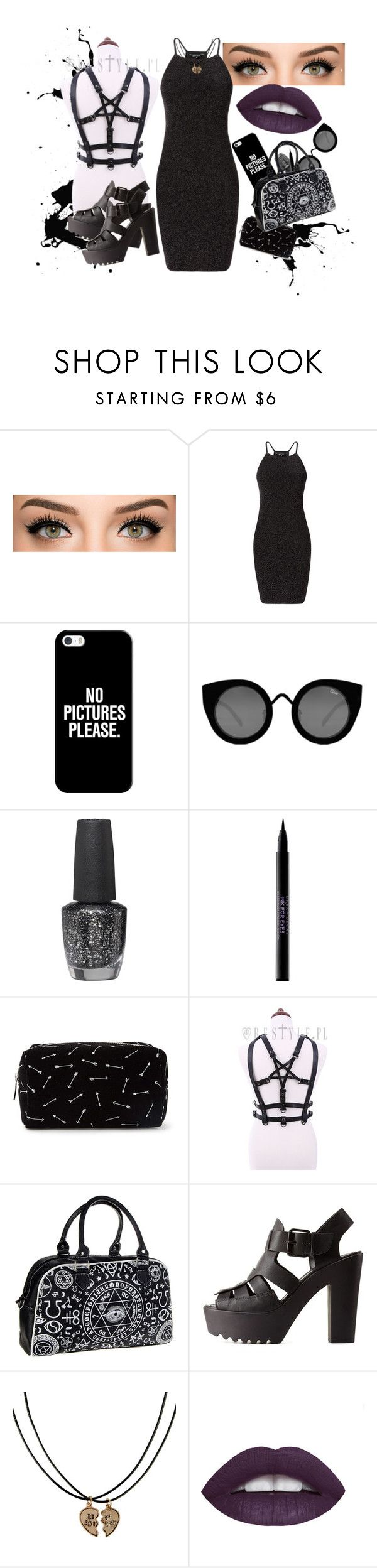 """New Years Eve"" by gmolina8 on Polyvore featuring Casetify, Quay, OPI, Urban Decay, Forever 21, Charlotte Russe and Monsoon"