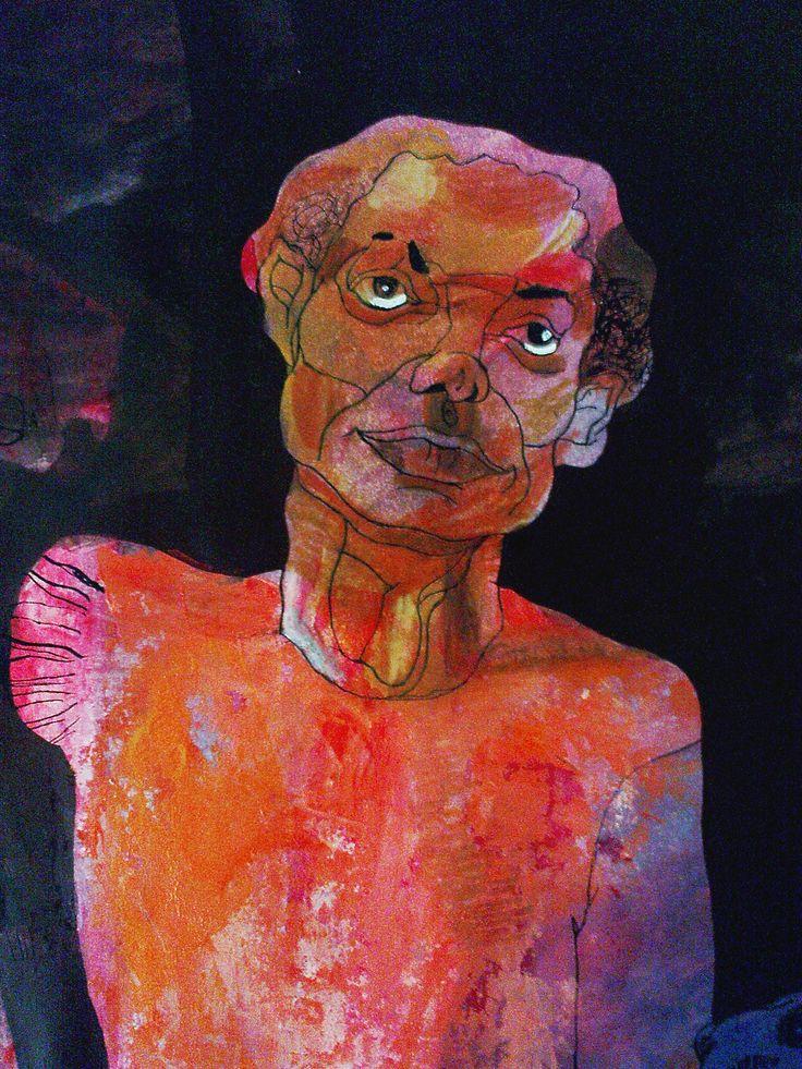 Nasrin CHARKHAT - detail - acrylic on cardboard - 40 * 50 cm
