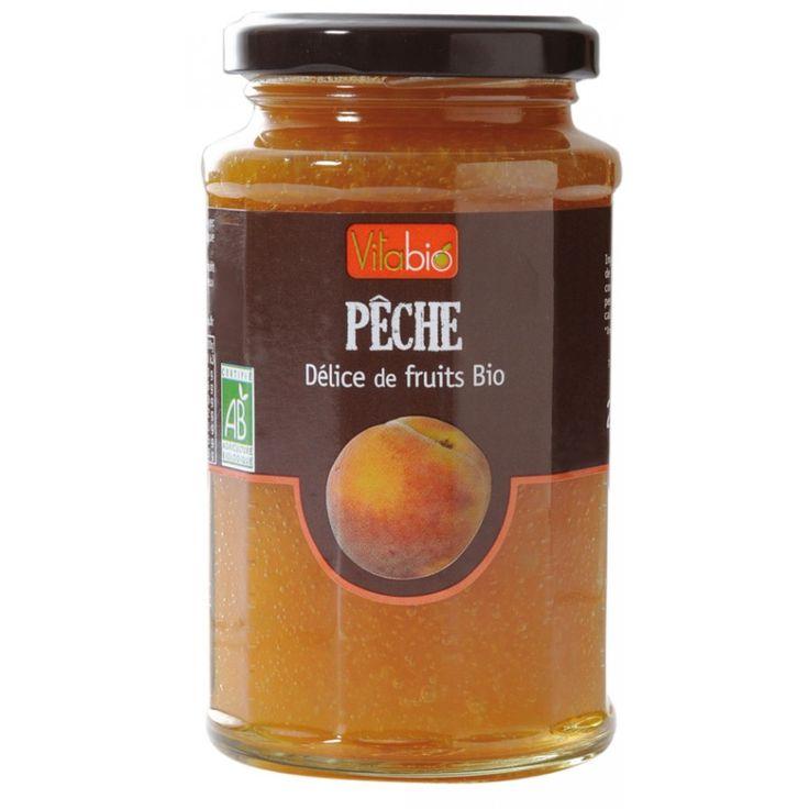 En god sylt av persika som passar till det mesta, innehåller småbitar och är endast sötad med druv- och citronjuice. 290g