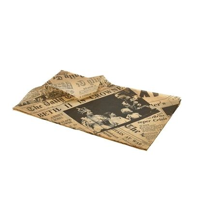 Brown Newspaper Print Greaseproof Paper
