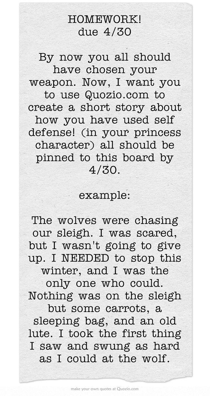 Short story homework