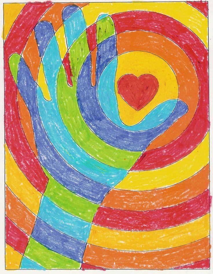 17 best images about children 39 s art on pinterest trees sunflower art and melted crayon art. Black Bedroom Furniture Sets. Home Design Ideas