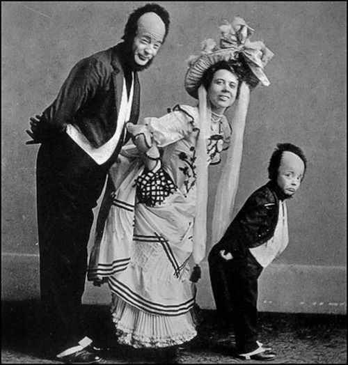 Buster Keaton as a child with his family. They were all in Vaudeville.