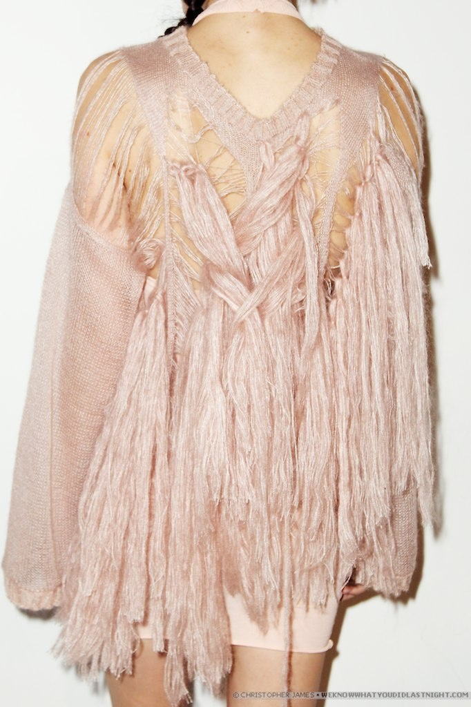 Mark Fast: interned on this jumper! #fringing #mohair