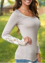 Long Sleeve Shirts And T-Shirts   Cheap White Long Sleeve Shirt For Women Online At Wholesale Prices   Sammydress.com
