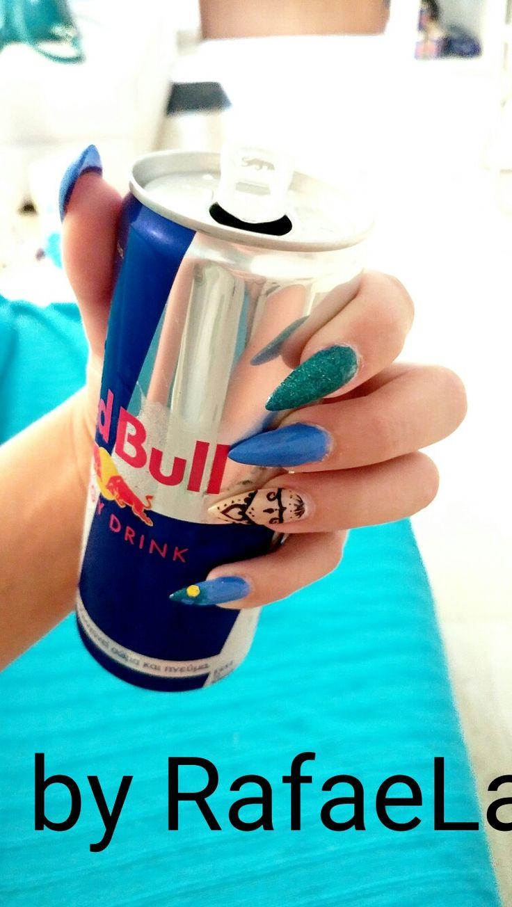 #salonderaf #mynails #redbull