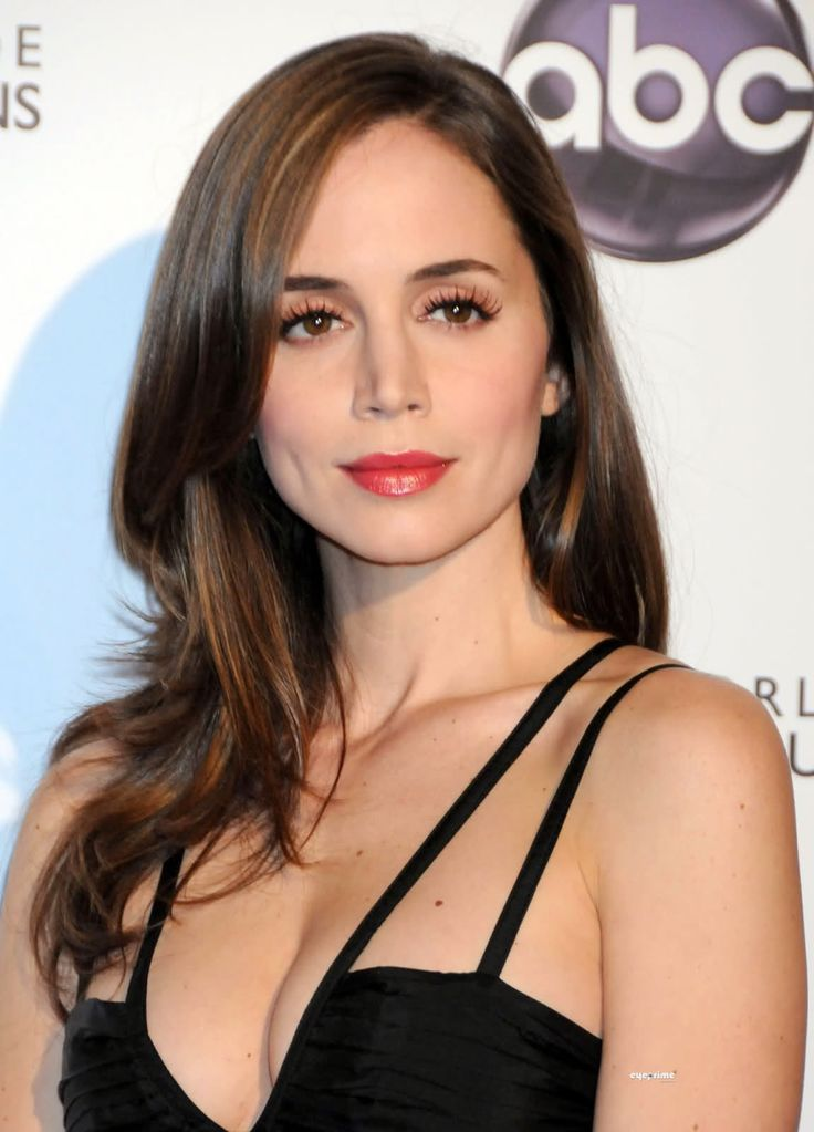 eliza dushku hair color. Brown with highlighting