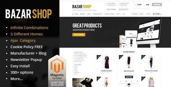 bazar shop - multi-purpose ecommerce theme free download | wordpress