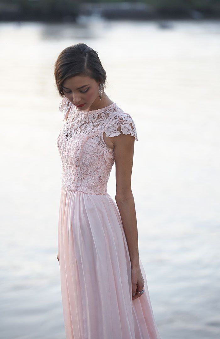 Tania Olsen Designs 'Latitia' bridesmaid dress // See more Tania Olsen Designs www.modernwedding.com.au #pastel #bridesmaids