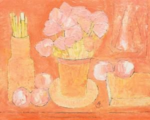 Still Life with Flowers and Brushes - Alexandru Ciucurencu