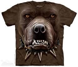 Zombie Pit Bull Face T-Shirt