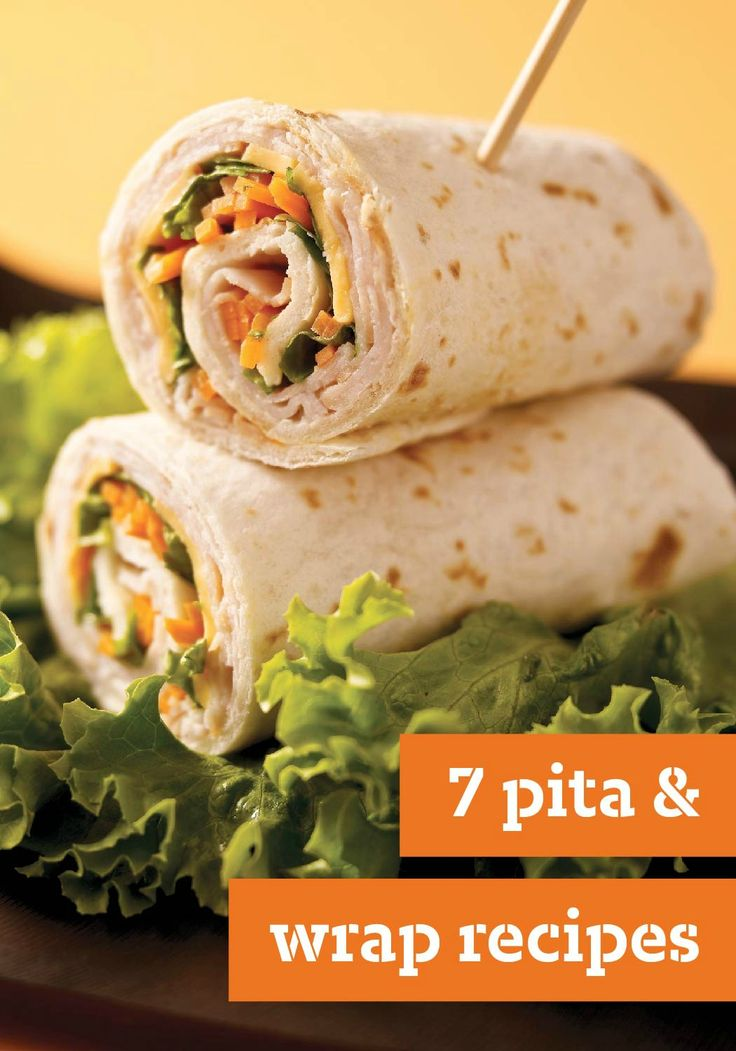 7 Pita & Wrap Recipes – Wrap it! Break out of the ordinary with these tasty wrap recipes. We've even got a pita recipe or two for you!