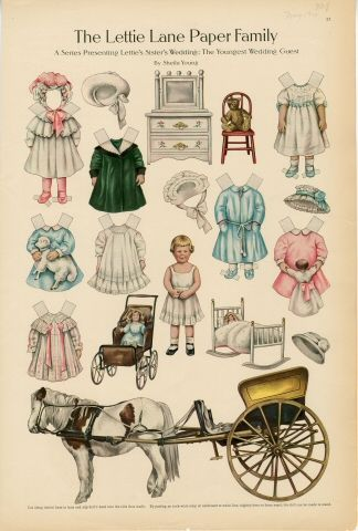 75.2764: The Lettie Lane Paper Family: The Youngest Wedding Guest | paper doll | Paper Dolls | Dolls | National Museum of Play Online Collections | The Strong