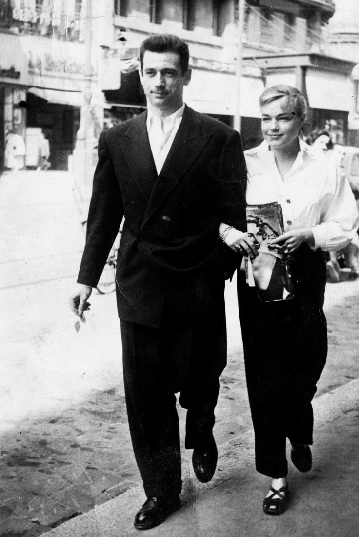 Simone Signoret and Yves Montand Actrice française