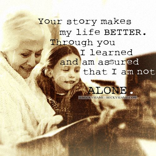 BECKYSIAME.COM | Your story makes my life better through you i learned and am assured that i am not alone.