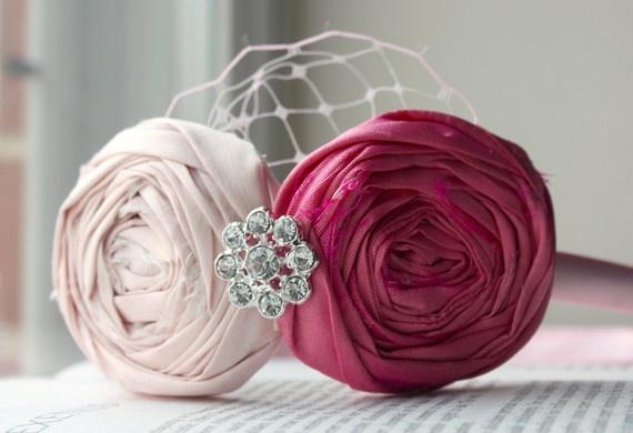 Valentine's Day Pretty Pink Rosette headband