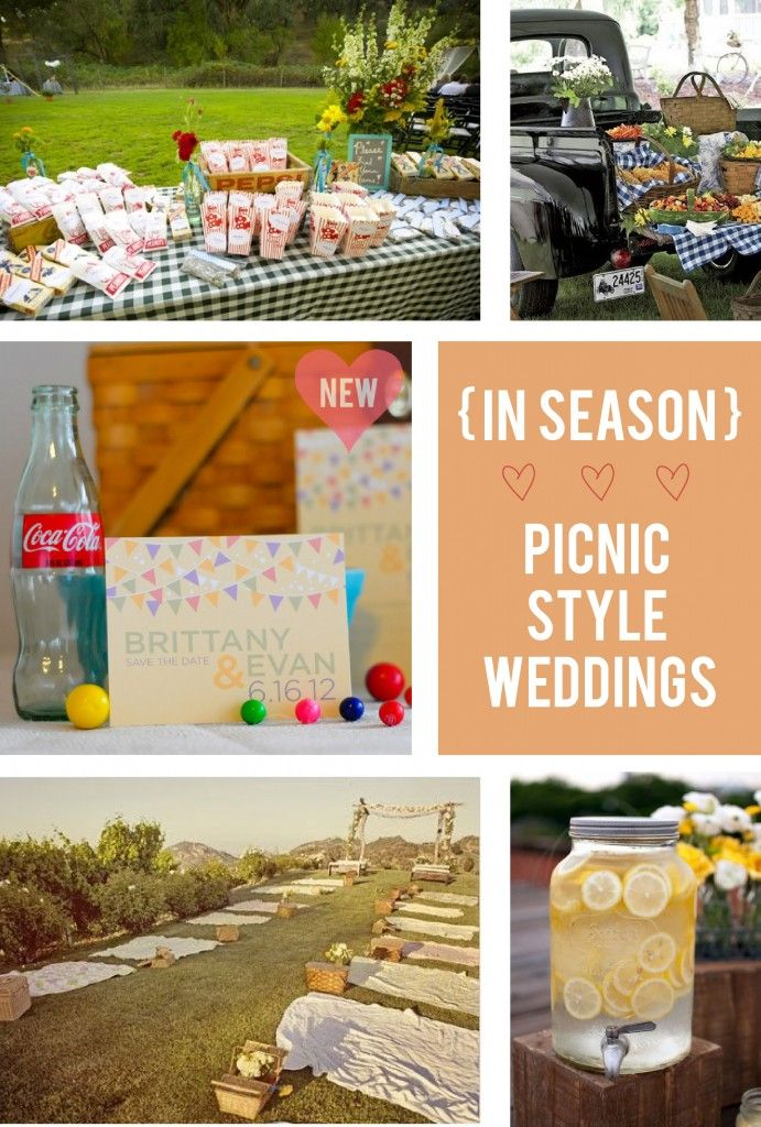 Picnic Wedding Inspiration - get the invitation here: http://jamandtoasttnshop.com/collections/frontpage/products/pennant-banner-invitation