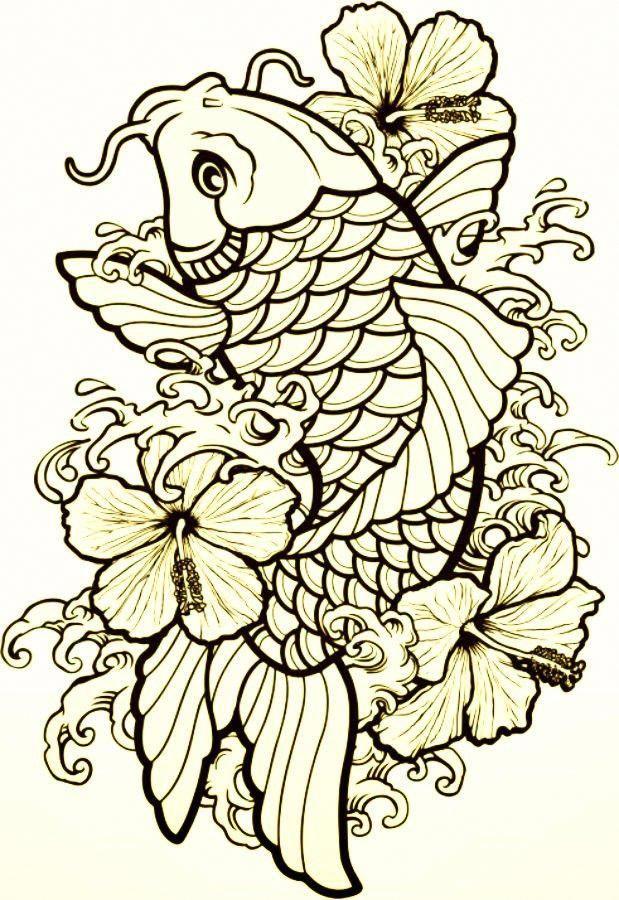 Traditional Koi Fish Design Koifish Koi Tattoo Design Japanese Koi Fish Tattoo Koi Fish Drawing