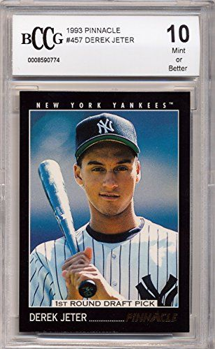1993 Pinnacle Derek Jeter Rookie Card Graded BCCG 10
