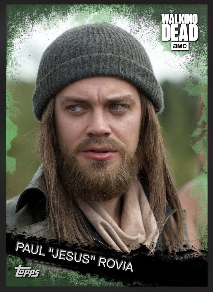 "Paul ""Jesus"" Rovia (Green Parallel) Base Card The Walking Dead 2016 Topps"