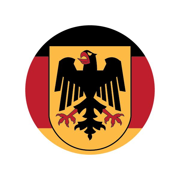 The gallery for --> German Eagle Flag