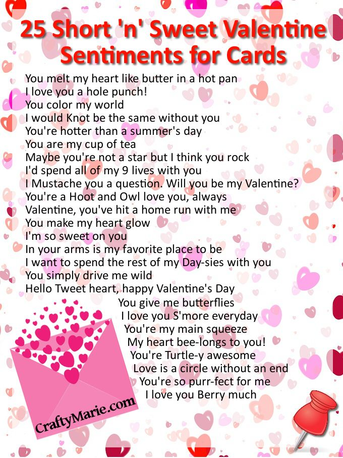 17 Best images about Valentine Cards – Valentine Quotes for Cards