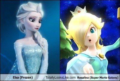 Elsa (Frozen) Totally Looks Like Rosalina (Super Mario ...