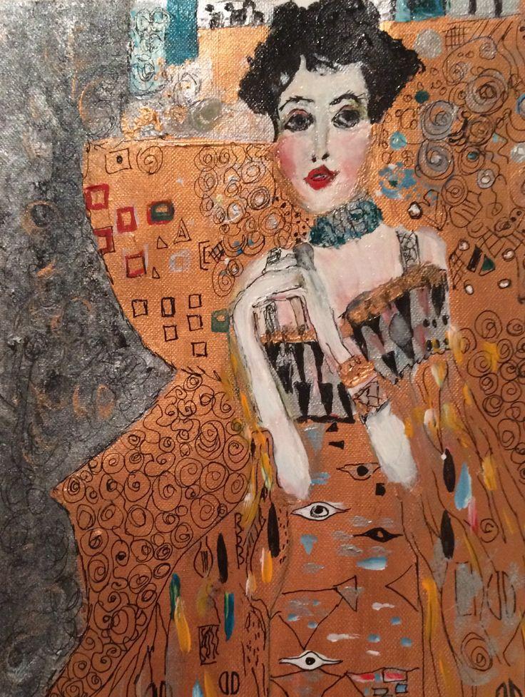 Lady in Gold after Gustav Klimt By Anne