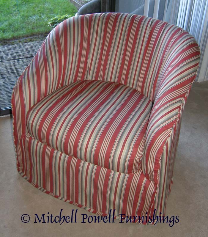 Slipcover For Barrel Chair Chair Covers Pinterest