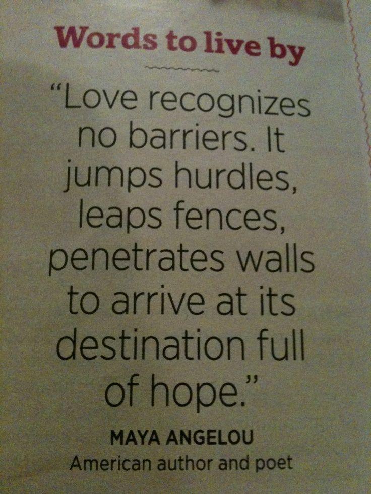 <b>Maya</b> <b>Angelou</b> <b>Love</b> Recognizes