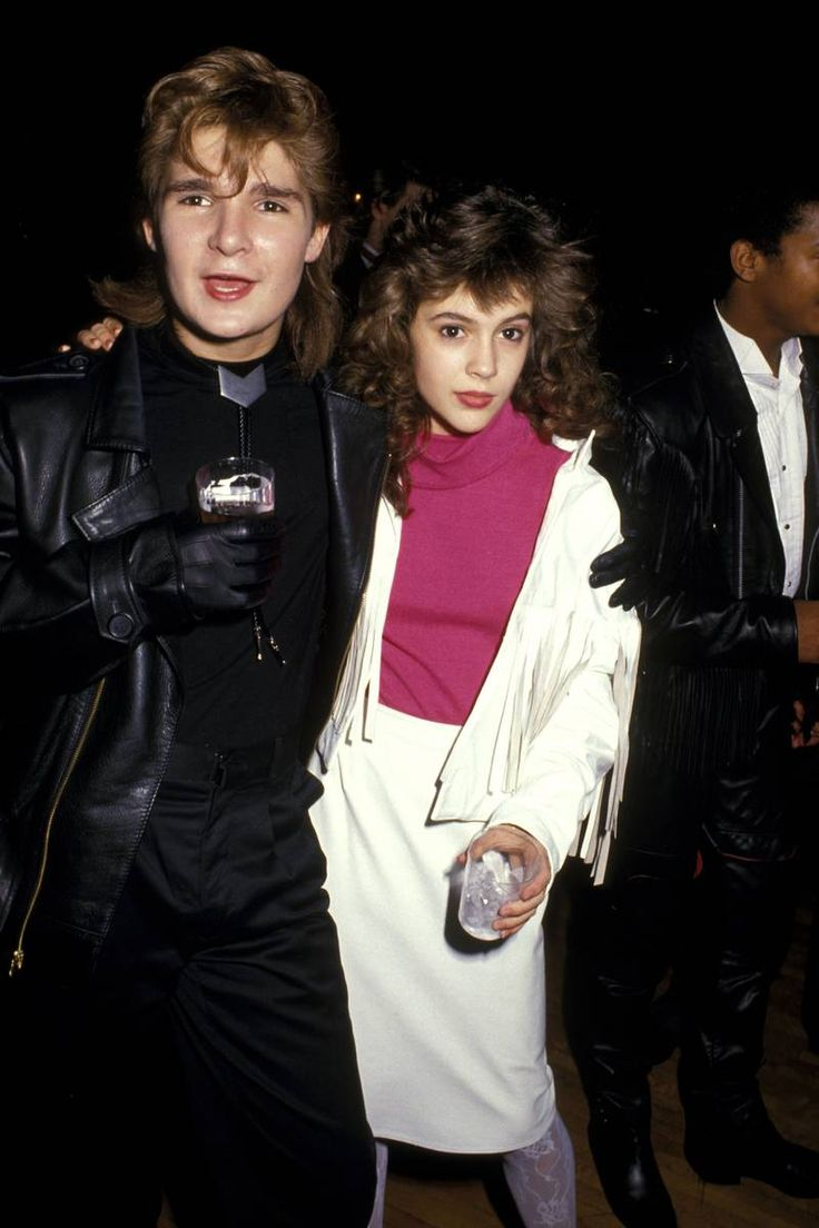 Corey Feldman and Alyssa Milano - ages 15 and 14, in 1987.