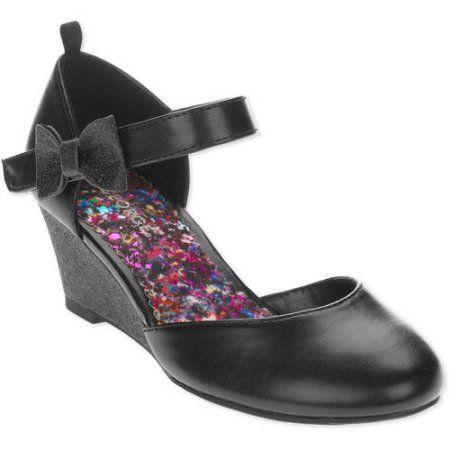 George Girls Wedge Dress Shoe, Infant Girl's, Size: 13, Black