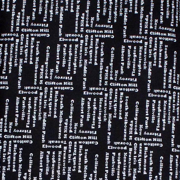 MELBA - SUBURBS - BLACK & WHITE -  Ella Blue Fabrics - by FQ or 25cm