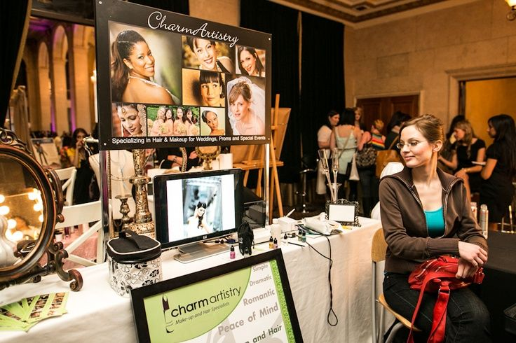 Bridal show hair and makeup booth ideas 2012 the for Stand salon original