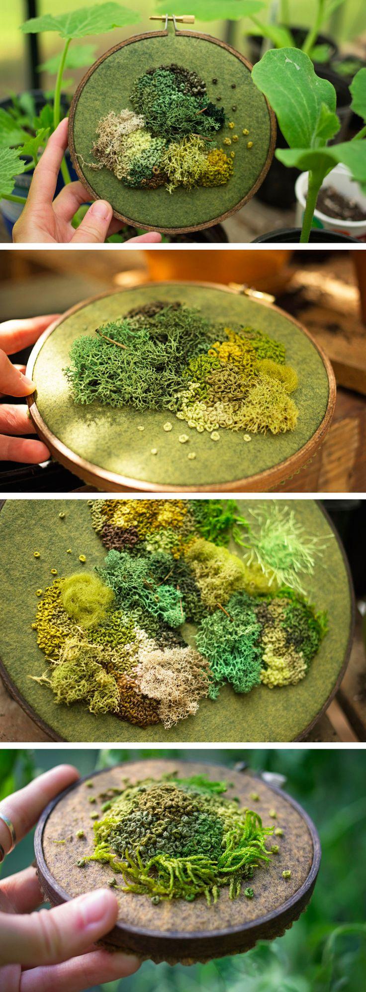 Moss embroidery. Emma Mattson