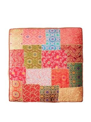 50% OFF Found Objects Square Patchwork Brocade Pillow