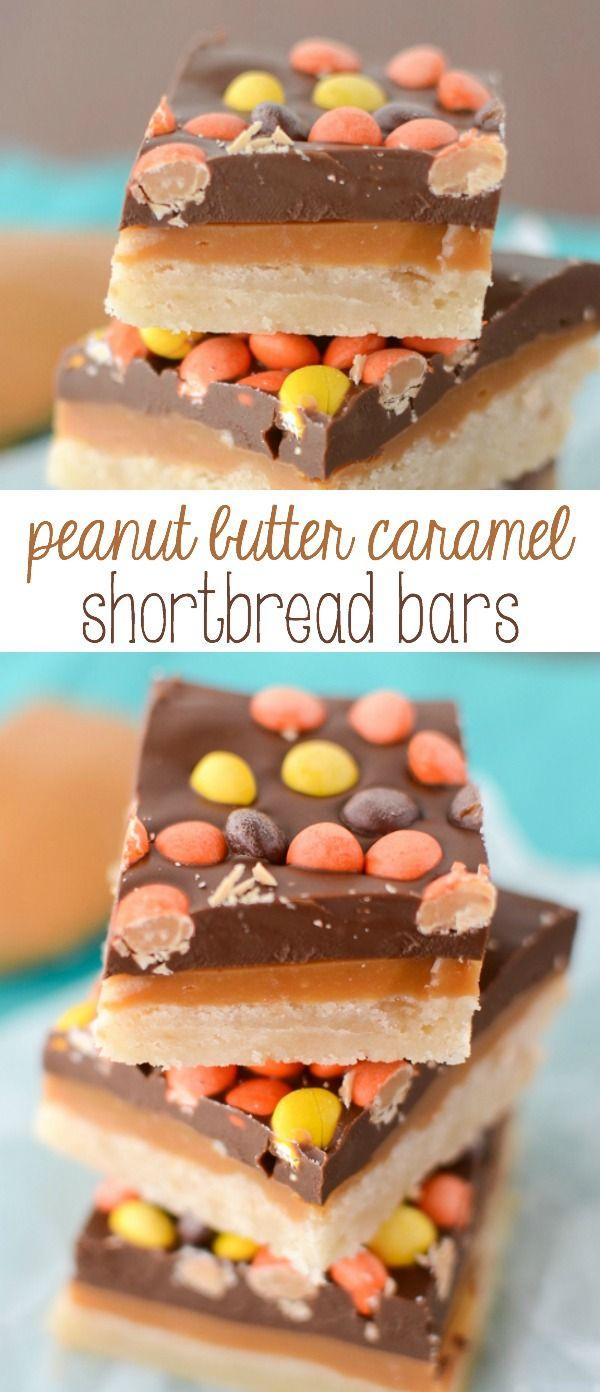 Peanut Butter Caramel Shortbread Bars - the best Millionaire Bar Recipe ever. The caramel has peanut butter in it!
