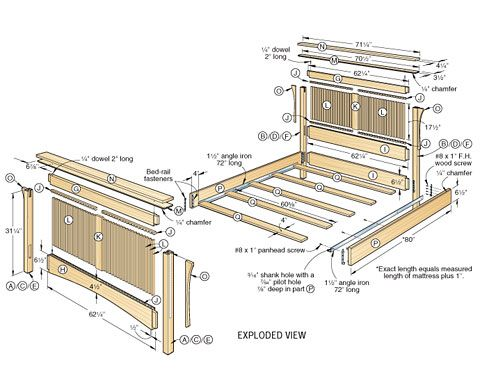 Bed plans, Bed Plans Woodcraft woodworking tools, woodworking plans ...