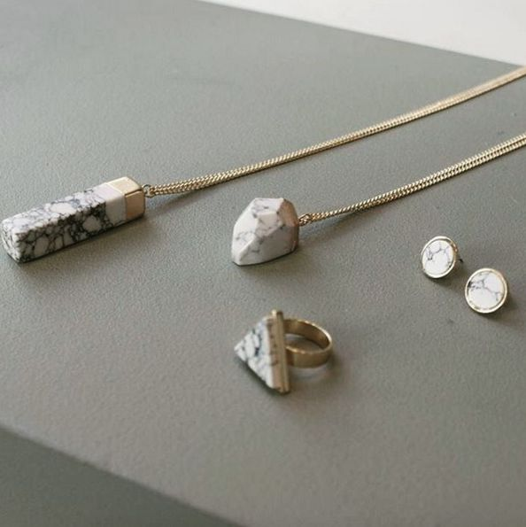 Marble rocks your world  items from €3,95 available at www.oliviajune.nl #oliviajunenl #marble #jewelry