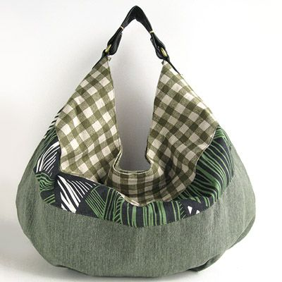 forma de media luna de la bolsa de asas * GREEN MIX - ropa asiática productos asiáticos Risi e Bisi (Rijebiji)