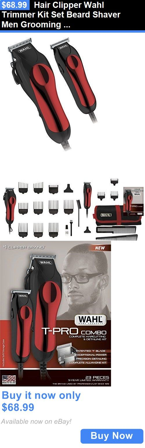 Hair Clippers - Shaving: Hair Clipper Wahl Trimmer Kit Set Beard Shaver Men Grooming Pro Cut Razor Barber BUY IT NOW ONLY: $68.99