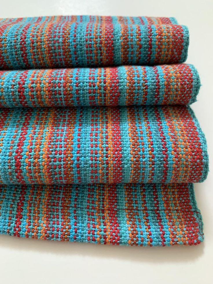 Blue Dish Towel Woven Tea Towel