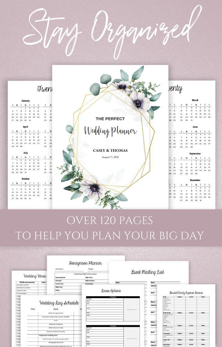 Wedding Planner Printable Wedding Planning Binder Wedding Binder Weddingbinder Wedd Wedding Planner Printables Wedding Planning Book Wedding Planner Binder