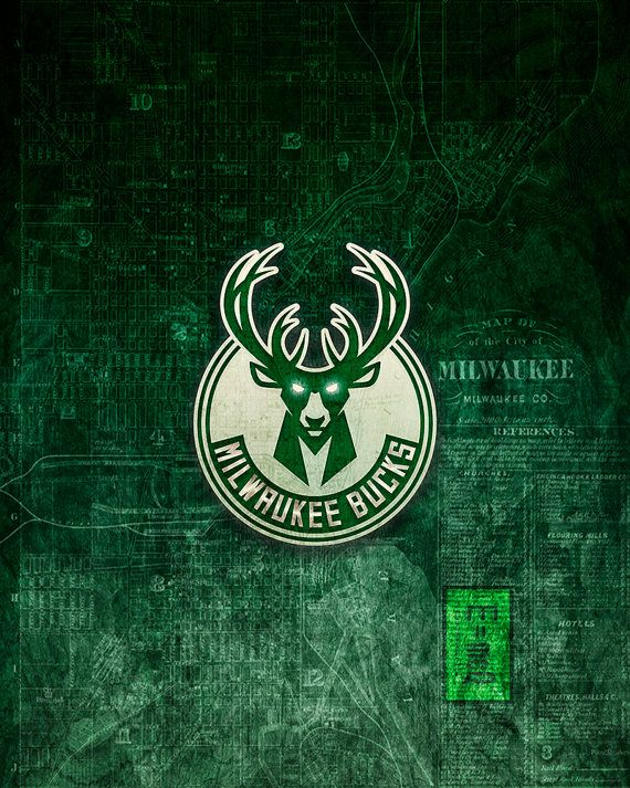 Milwaukee Bucks Art Milwaukee Bucks Poster Over by McQDesign