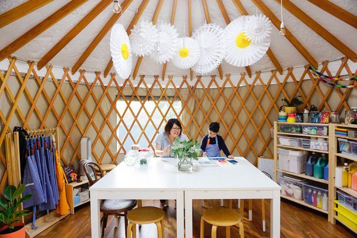 HOT: The Little Art Yurt, Yarraville http://tothotornot.com/2017/06/little-art-yurt/