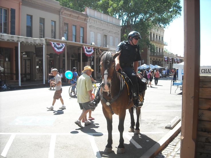 Sacramento Sheriff's Department Mounted Patrol.  Old Sacramento